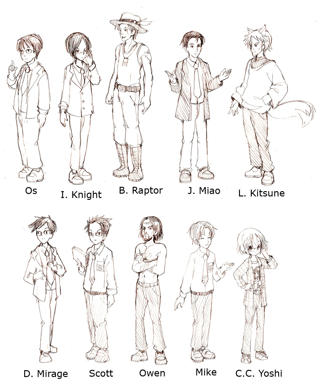CCY Male Character Designs